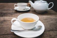 Set herbata na drewnie Zdjęcie Royalty Free