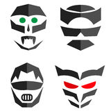 Set of hero mask. Superhero costume accessories. Royalty Free Stock Photography