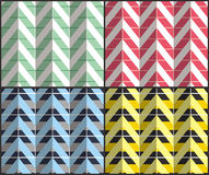 Set of Herringbone Zigzag Seamless Patterns. Set of 4 chevron seamless patterns with zigzags. Can be used for wallpapers, pattern fills, website backgrounds Royalty Free Stock Photography