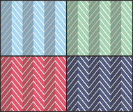 Set of Herringbone Zigzag Seamless Patterns. Set of 4 chevron seamless patterns with zigzags. Can be used for wallpapers, pattern fills, website backgrounds Stock Photography