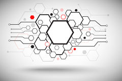 Set of hexagonal cells. Abstract background consisting of set of hexagonal cells. Vector Graphics Stock Photography