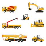 Set of construction equipment. Set of high detail of construction and transport equipment Royalty Free Stock Image