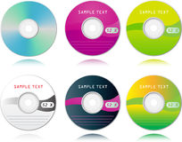 Set of high detailed blank CDs Royalty Free Stock Images