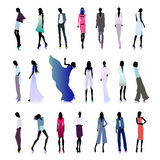 Set of high fashion women colored Stock Photography