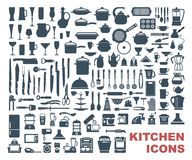 Set of high quality kitchen icons Stock Image