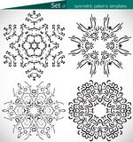 Set of high-quality symmetric patterns templates for design Royalty Free Stock Photo