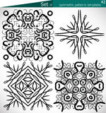 Set of high-quality symmetric patterns templates for design Stock Images