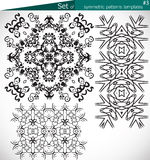 Set of high-quality symmetric patterns templates for design Stock Photography
