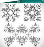 Set of high-quality symmetric patterns templates for design Royalty Free Stock Image