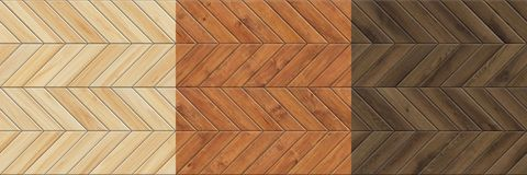 Set of high resolution seamless textures of wooden parquet. Chevron patterns