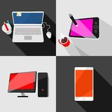 Set of high-tech icons Royalty Free Stock Image