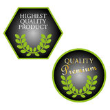 Set of highest quality product stamps Stock Photo