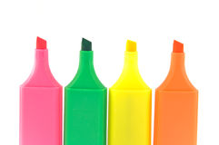Set of highlighters Stock Photos