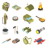Set Of Hiking and Camping Icons Royalty Free Stock Image