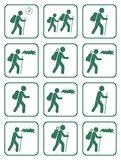 Set of Hiking icon illustration isolated vector Royalty Free Stock Image