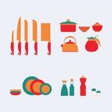 Set Hilfsmittel für das Kochen Stockfoto