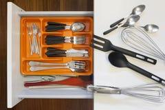 Set Hilfsmittel für das Kochen stockfotos