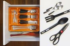 Set Hilfsmittel für das Kochen lizenzfreies stockfoto