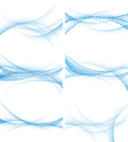 Set Hintergründe mit abstrakten Wellen, Vektor Stockfotos