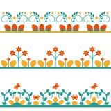 Set Hintergründe mit Blumen stock abbildung