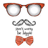 Set of hippie glasses Royalty Free Stock Photography
