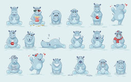 Set of Hippo Royalty Free Stock Photo