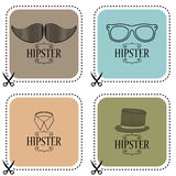 Set of hipster cards Royalty Free Stock Images