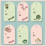 Set of hipster gift tags. Vector labels collection vector illustration