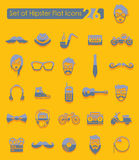 Set of hipster icons Stock Photography