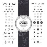 Set of Hipster Icons and Symbols Stock Photos
