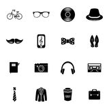 Set of hipster icons Stock Images