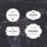 Set of Hipster Labels with Frames Royalty Free Stock Photos