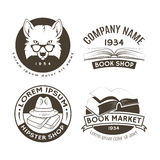 Set of hipster logos and labels.