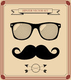 Set of Hipster man style graphic elements.  illust Royalty Free Stock Images