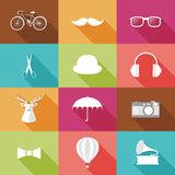 Set of Hipster objects. Stock Photos