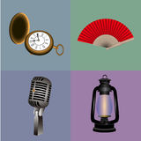 Set of hipster objects Royalty Free Stock Images
