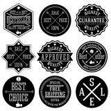 Set of hipster sale labels, monochrome typographic design. Vector. Stock Images