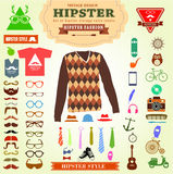 Set of Hipster style elements labels and icons. Royalty Free Stock Photo