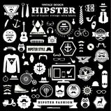 Set of Hipster style elements labels and icons. Stock Photos