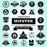 Set  of Hipster style elements. Royalty Free Stock Photography