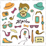 Set of hipster style symbols Sketches Royalty Free Stock Photos