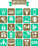 Set of hipster style web icons Stock Image