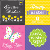 Set of hipster typographic easter cards Stock Photography