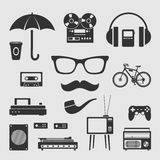 Set for hipster Royalty Free Stock Images