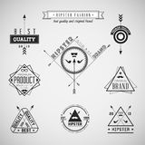 Set of hipster vintage retro labels Royalty Free Stock Photography