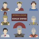 Set of historical avatars Royalty Free Stock Photography