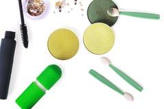 set hjälpmedel för makeupprofessionell royaltyfri foto