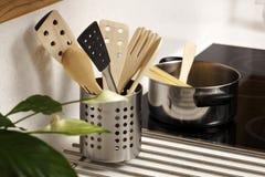 set hjälpmedel för matlagningkök Royaltyfri Bild