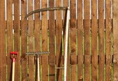 set hjälpmedel för trädgård royaltyfria foton