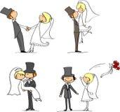 Set Hochzeitsabbildungen Lizenzfreie Stockfotografie